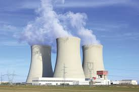 Nuclear power station towers