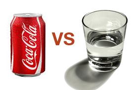 Water vs coke