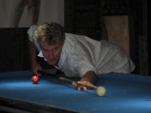 playing pool, shark attack in Bali