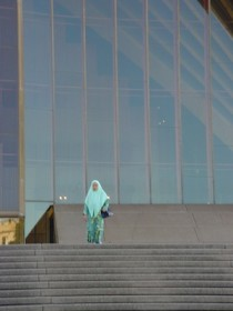 Women as a battlefield, Opera House Muslim woman